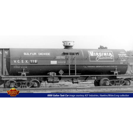 Chemical Tank Car - Broadway Limited 6125 HO Virginia Chemicals ACF Type 6,000-GAllon Tank Car (4)
