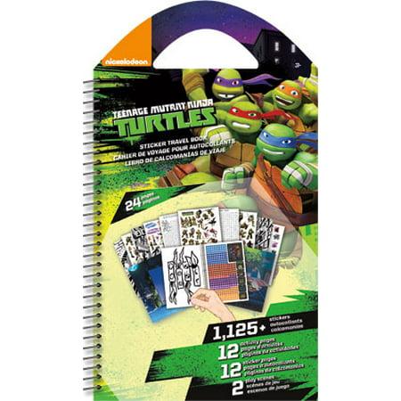 Sticker Travel Book - TMNT - Toys Decals New st4512 - Ninja Turtle Stickers