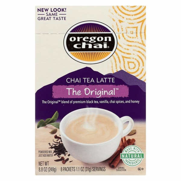 Oregon Chai Tea Latte Mix - The Original - Pack of 6 - 8 Count