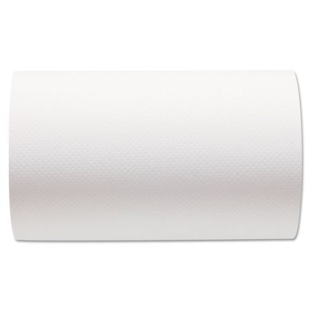 Georgia Pacific Professional 26610 Hardwound Paper Towel Roll, Nonperforated, 9 X 400ft, White, 6 Rolls/carton