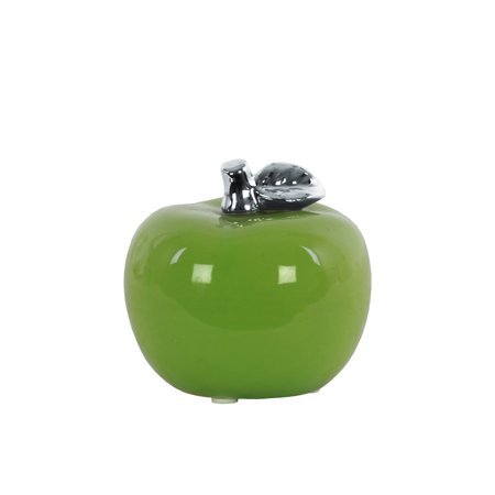 Urban Trends Collection: Ceramic Apple Figurine Glazed Leaf Finish Green