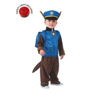 Paw Patrol Chase Kids Costume Kit With Safety Light - 2T-4T