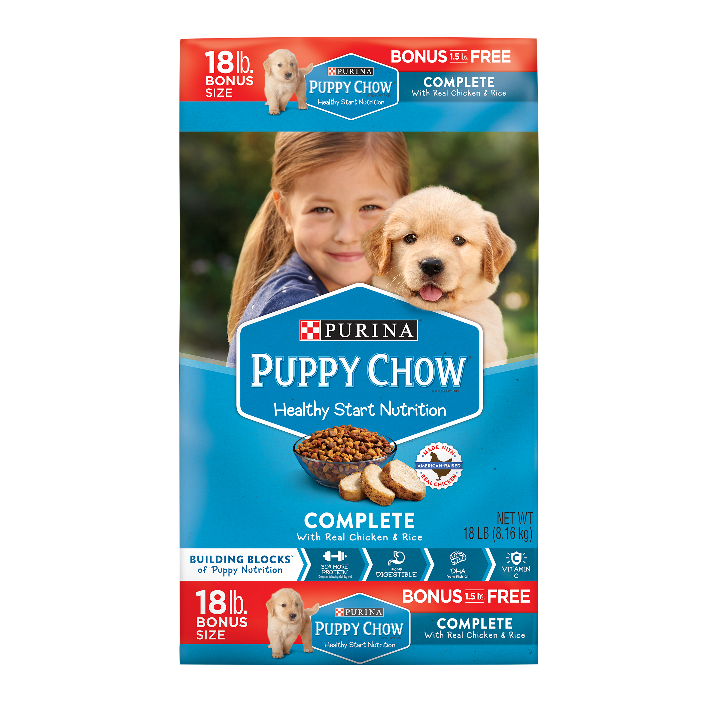 Purina Puppy Chow Complete With Real Chicken Dry Puppy Food - 18 lb. Bag