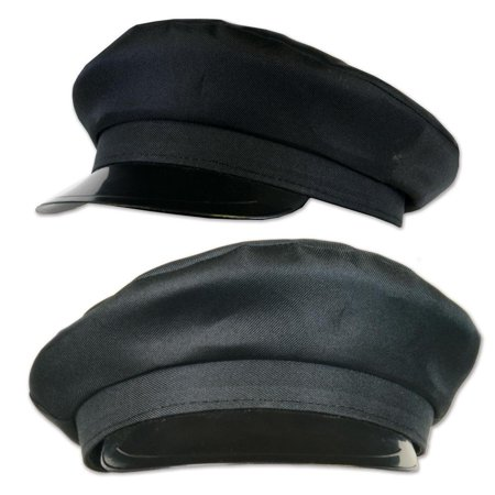 Pack of 12 Old Hollywood Glamorous Black Chauffeur Hats - One Size Fits Most (Cheap Chauffeur Hats)