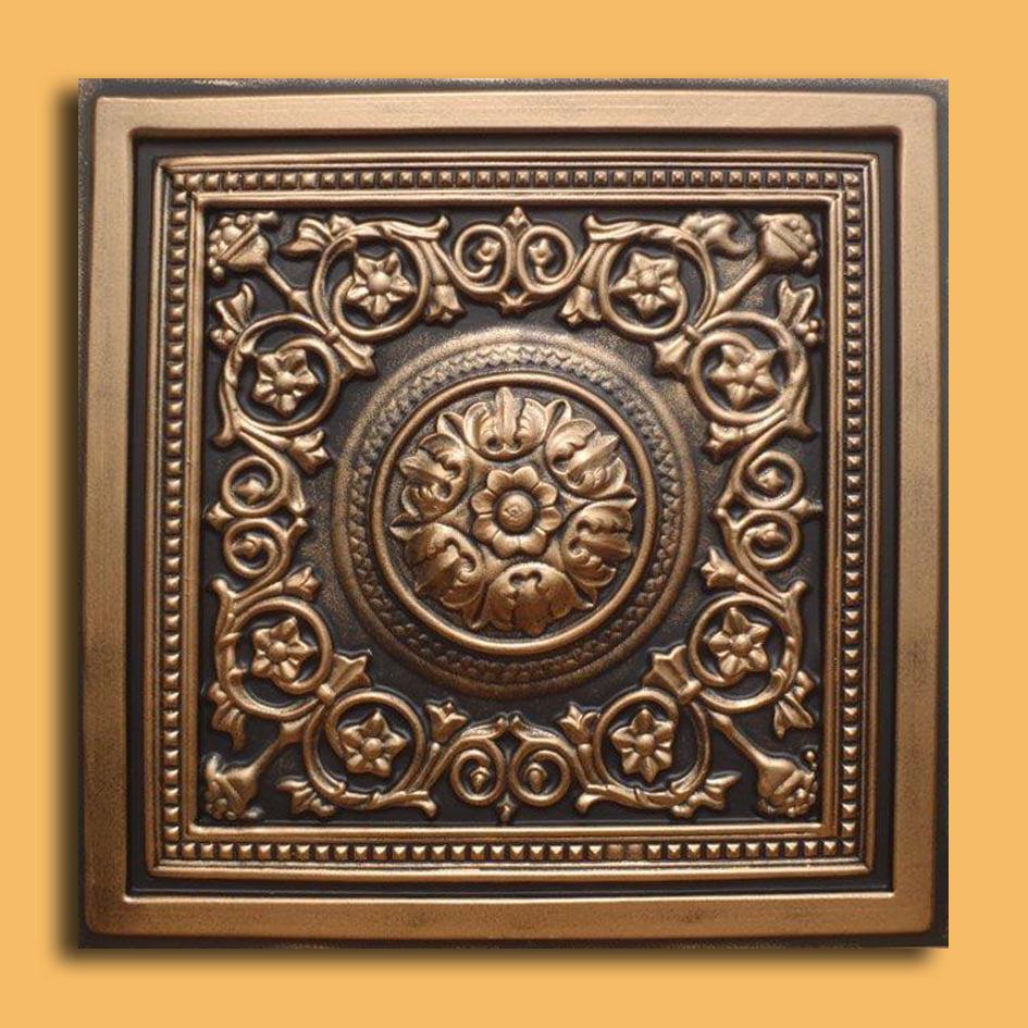 Majesty Antique Bronze Black PVC Ceiling Tiles for Drop in Grid System (10 pack)