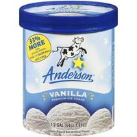 Anderson Vanilla Premium Ice Cream, 64 oz