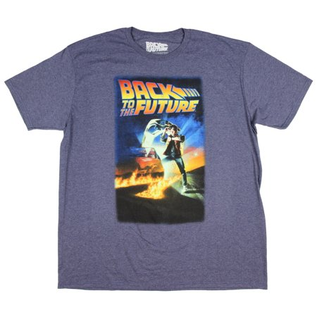 Back To The Future 2017 Clothes (Back To The Future Men's Distressed Poster)