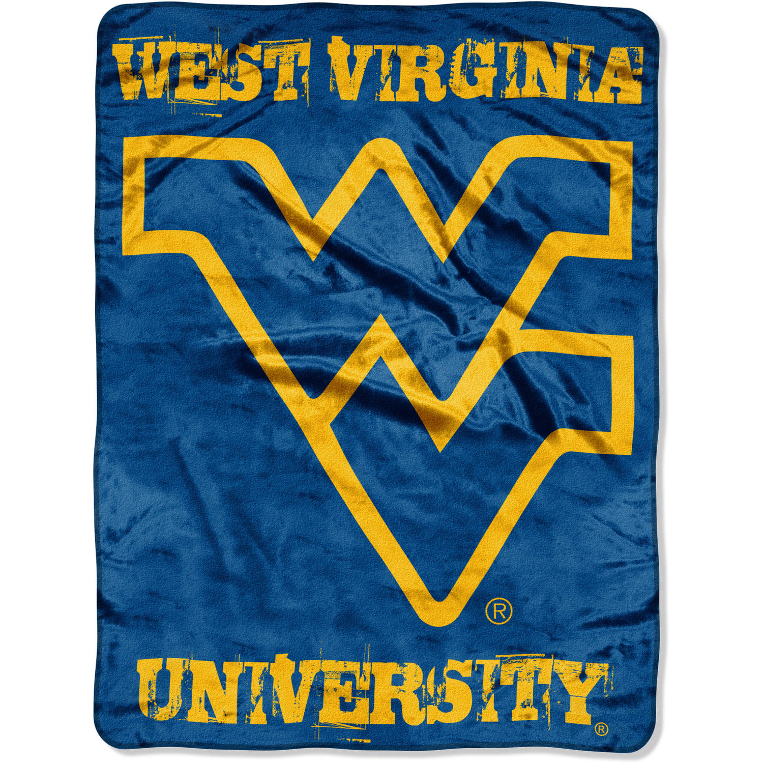 NCAA West Virginia Mountaineers 46  x 60  Micro Raschel Throw