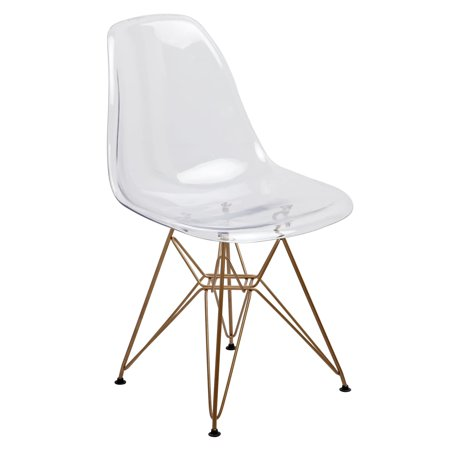 American Atelier  Design Guild Living Clear Seat Gold Legs Banks (Twisted Leg Design)