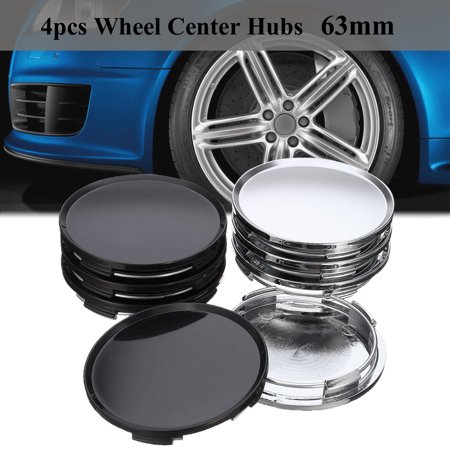 - 4PC 63mm 58mm Car Wheel Center Caps Wheel Center Hubs Caps Silver