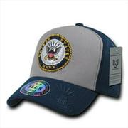 Rapid Dominance S11-NAV-GRY-07 Flex Military Caps, Navy, Grey, Large & Extra Large