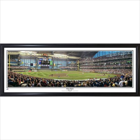 Milwaukee Brewers 39'' x 13.5'' First Pitch Standard Framed Panorama