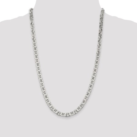 925 Sterling Silver 6.5mm Anchor Chain 22 Inch - image 3 de 5