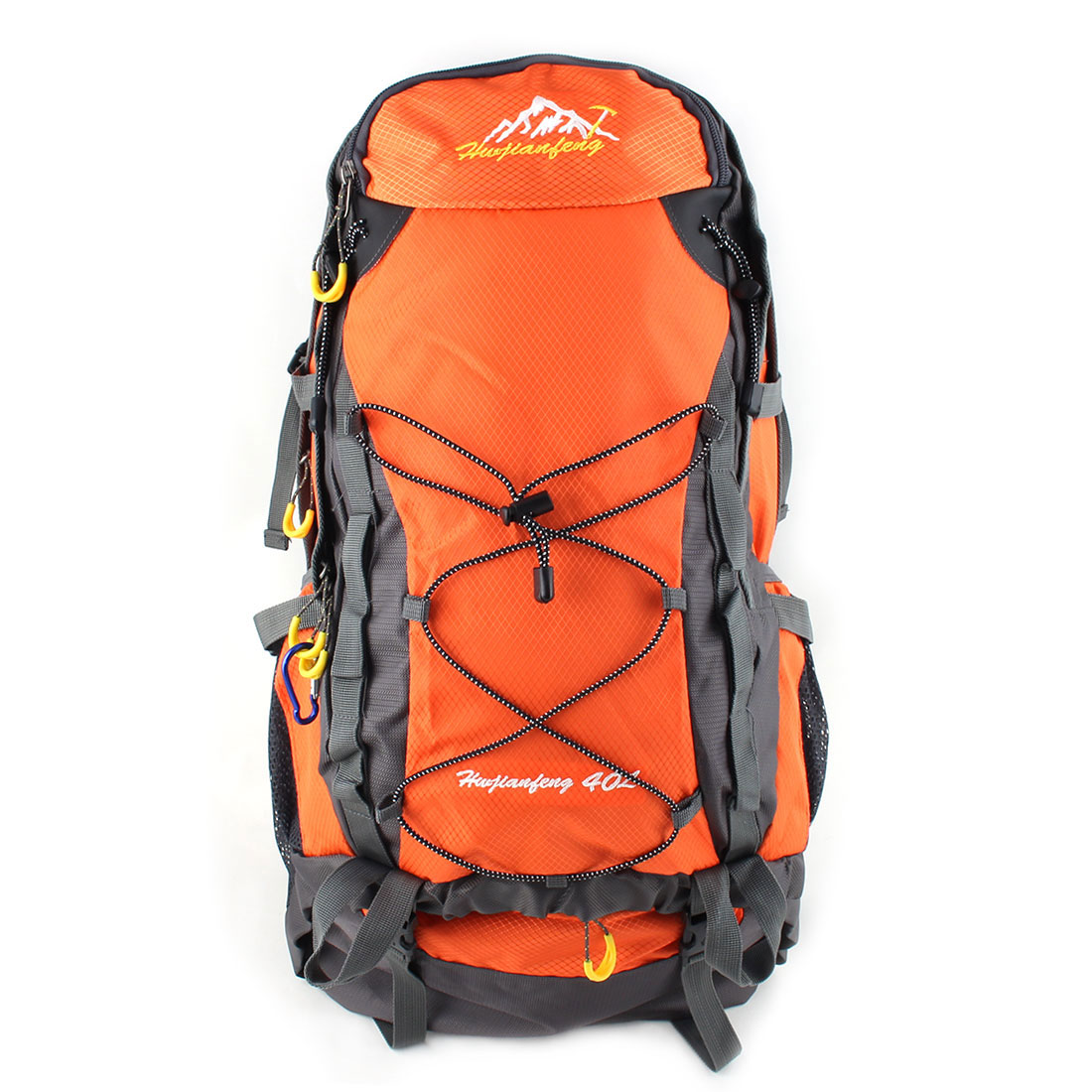 HWJIANFENG Authorized Pack Water Resistant Sport Bag Hiking Backpack Orange 40L