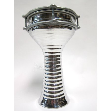 12' Doumbek (Aluminum Lightweight Doumbek Drum, Zebra - 7 1/2