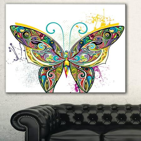 DESIGN ART Openwork Butterfly' Digital Art Canvas Print - - Butterfly Canvas