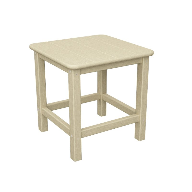 POLYWOOD® Seashell Recycled Plastic 18 in. Side Table