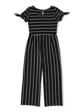 My Michelle Short Sleeve Rib Knit Jumpsuit (Big Girls)