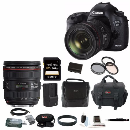 canon eos 5d mark iii dslr camera kit with canon ef 24. Black Bedroom Furniture Sets. Home Design Ideas
