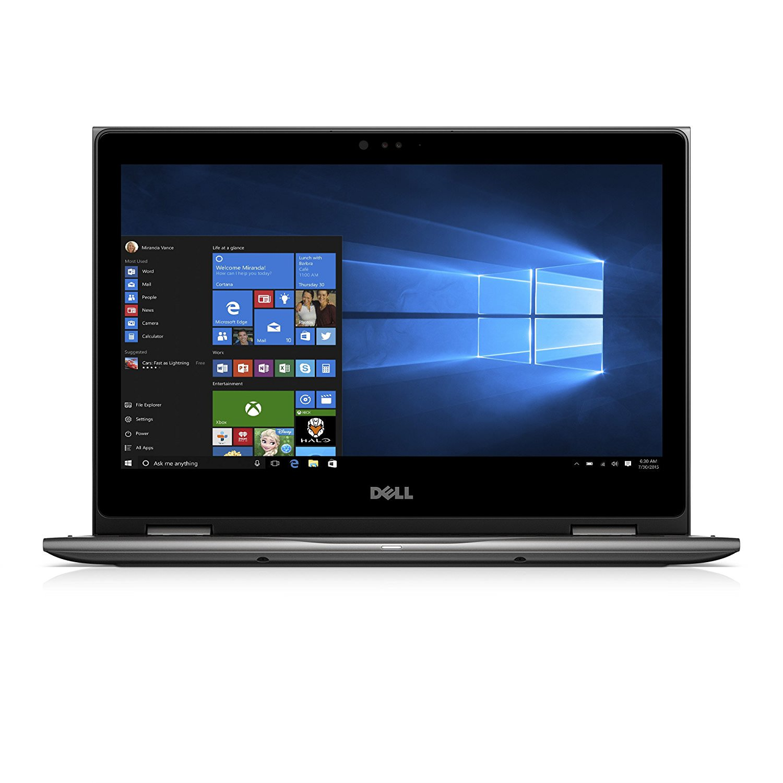 "DELL Inspiron 13 5000 i5378-3031GRY Intel Core i3 7th Gen 7100U (2.40 GHz) 4 GB Memory 1 TB HDD 13.3"" Touchscreen 1920 x 1080 2-in-1 Laptop Windows 10 Home 64-bit"