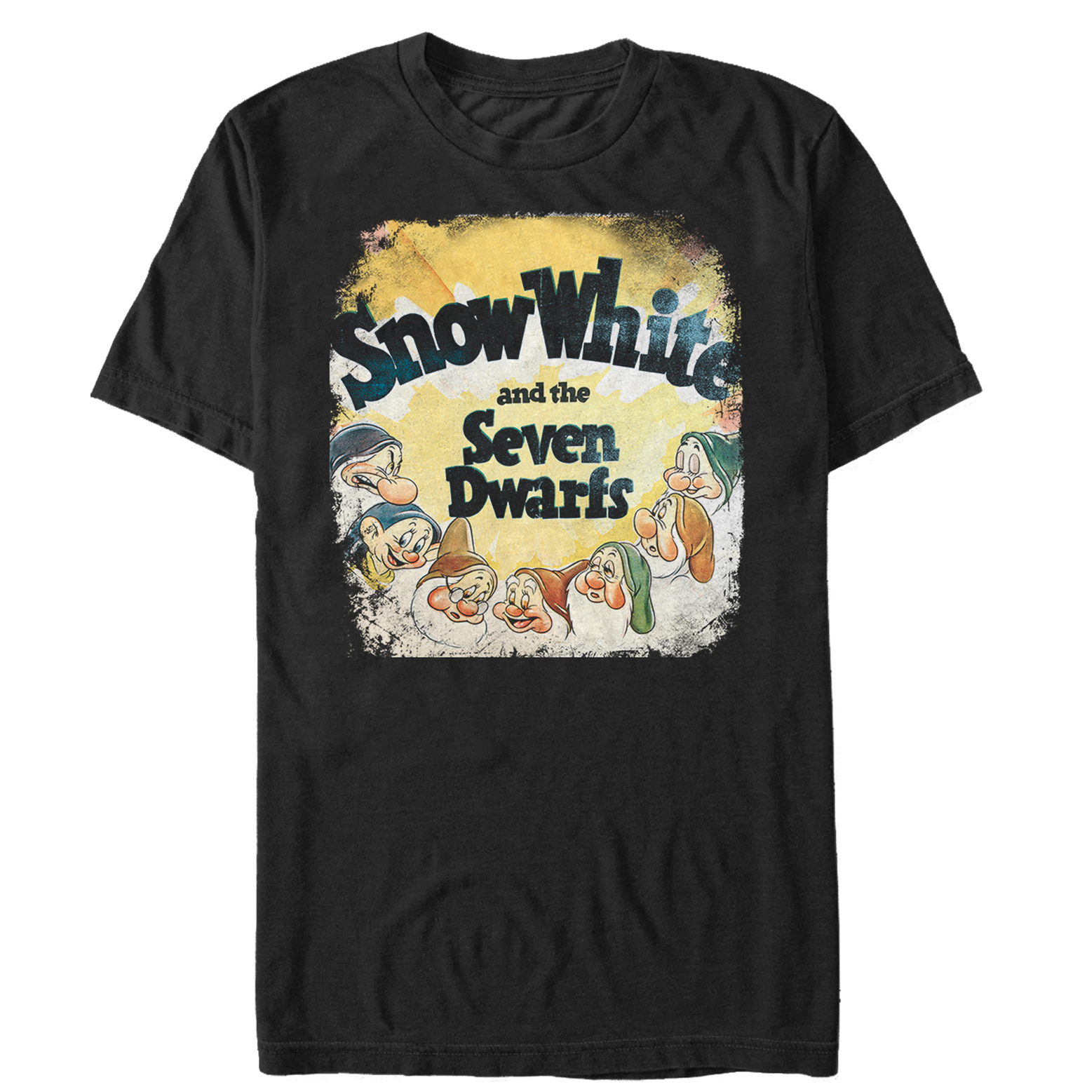 Snow White and the Seven Dwarves Men's Vintage Poster T-Shirt