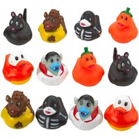 Halloween Rubber Ducky - Set of 12 Assorted Duckies for Kids Party Favors, Gifts on Birthdays, Trick or Treat, Baby Showers, Bath Companion for Summer Beach and Pool Activity, Sensory Toy