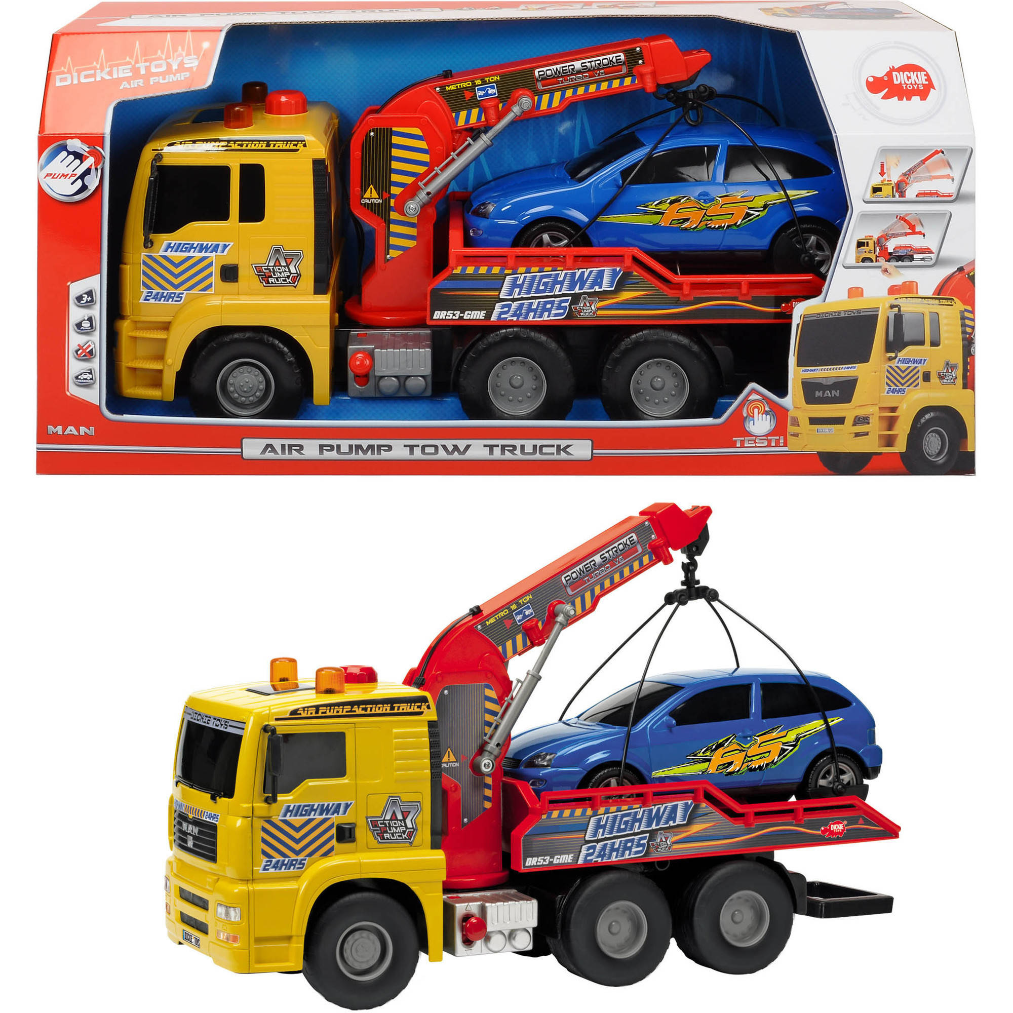 "Dickie Toys 21"" Air Pump Tow Truck by Dickie Toys"