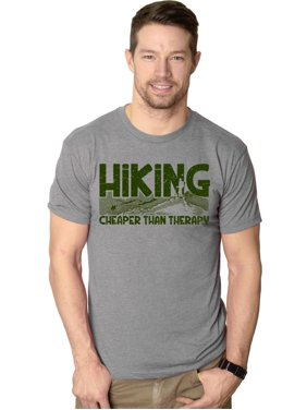 57e819d2 Product Image Crazy Dog T-shirts Mens Hiking Cheaper Than Therapy Funny  Camping Summer T shirt (