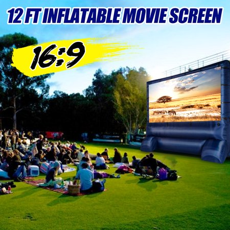 12' Widescreen Airblown Inflatable Deluxe Movie Screen Home Backyard (Outdoor Inflatable Screen)