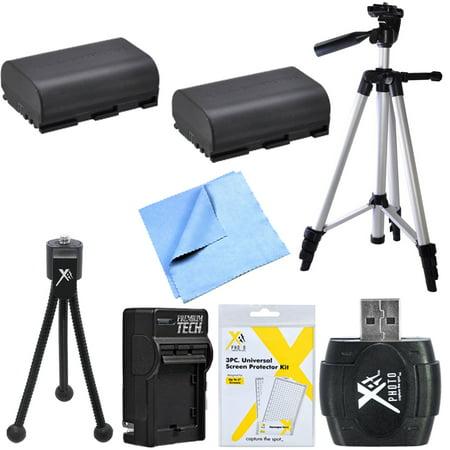 2x LP-E6 Battery Kit Micro Fiber Cloth, Table-top & 60