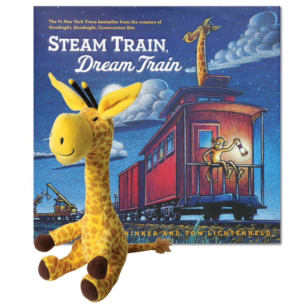 Children's Children's Storytime Set - Steam Train, Dream Train Board Book With Sounds And Plush Stuffed Toy
