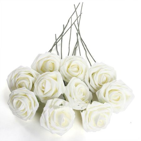 50Pcs Wedding Flowers Artificial Flowers for Wedding Arrangement Bouquet Home decor - Decor For Weddings