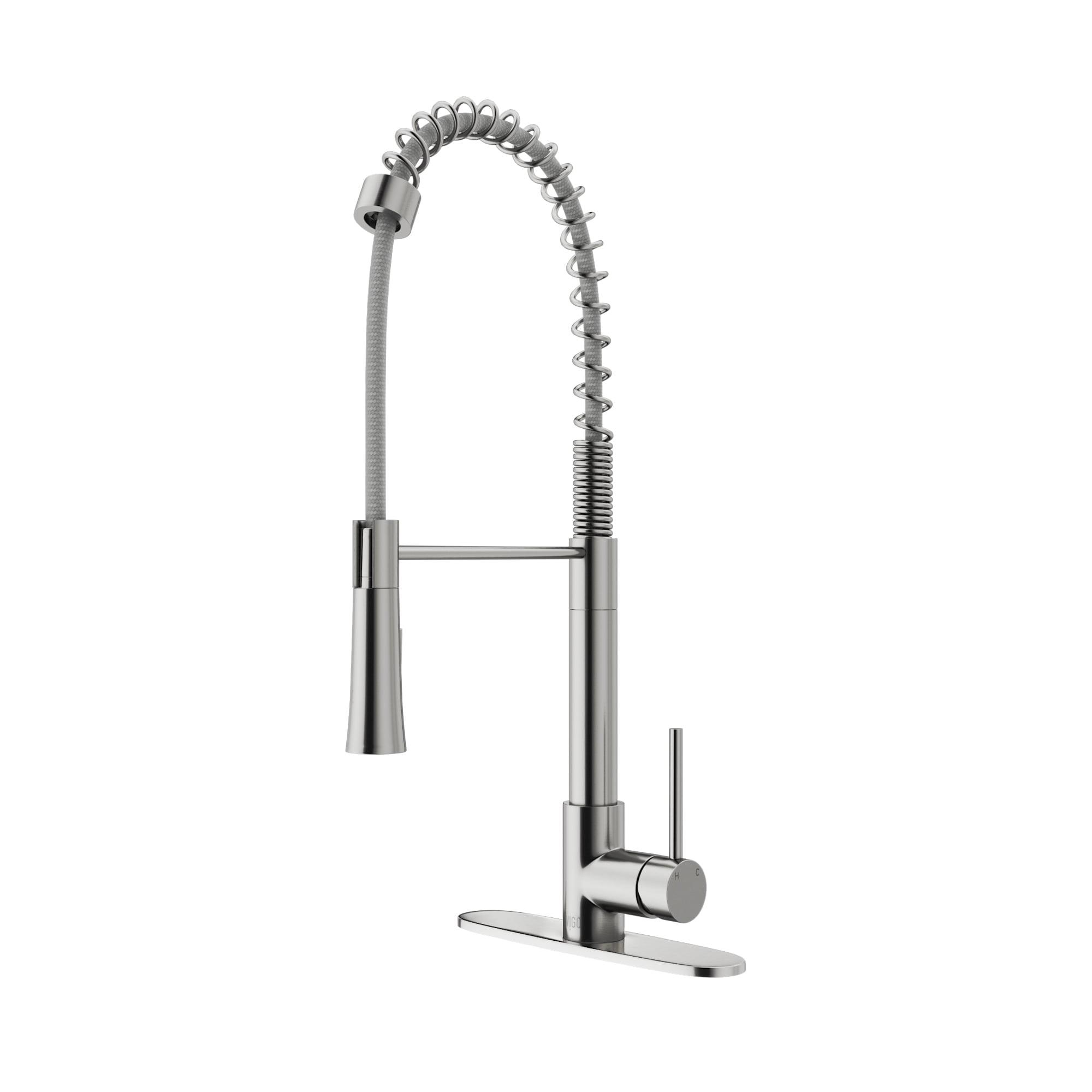 Vigo Laurelton Pull Down Spray Kitchen Faucet In Matte Black vigo laurelton stainless steel pull-down spray kitchen
