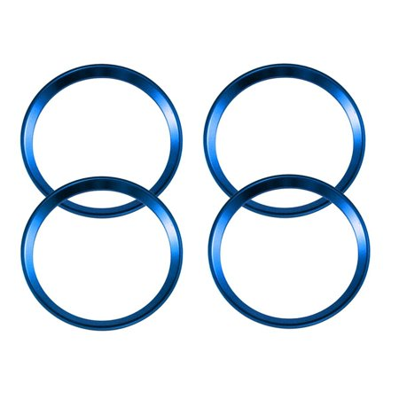Xotic Tech Blue Alloy Car Wheel Rim Center Cap Hub Rings Decoration For Audi A3 A4 A5 Q3 Q5 Q7 TT Quattro, Fit BMW X1 X3 X5 1 3 5 6 7 Series (4 Pieces)