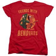 Gumby - Bendefits - Women's Short Sleeve Shirt - X-Large