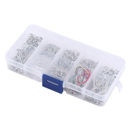 EECOO Jewelry Making Parts,Jewelry Making Kits Set Head Pins Chain Beads Craft Accessories With Box Jewelry Findings Craft Making (Bead Pin Craft)