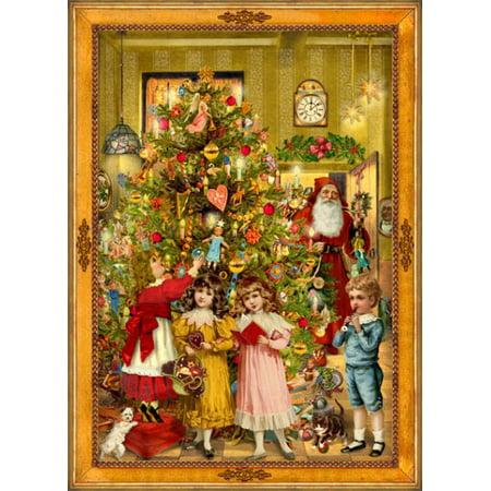 Victorian Santa German Christmas Advent Calendar