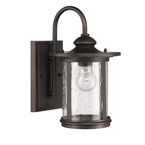 "CHLOE Lighting COLE Transitional 1 Light Rubbed Bronze Outdoor Wall Sconce 13"" Height"