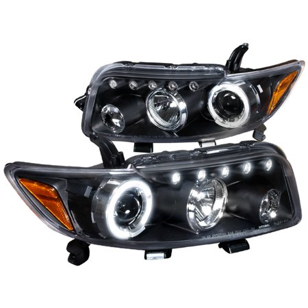 Black Projector - Spec-D Tuning Led 2008-2010 Scion Xb Halo Projector Headlights Black 08 09 10 (Left + Right)