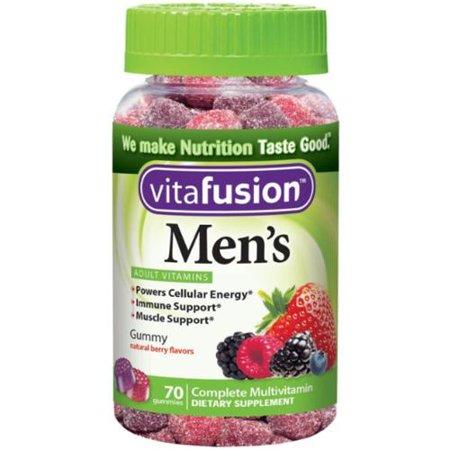 Vitafusion Daily multivitamines Gummy Men Années 70 ch (pack de 2)