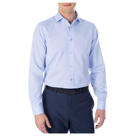 Slim-Fit Performance Non-Iron Dress Shirt (Calvin Klein Mens Dress Shirt Xxl)