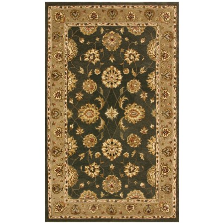 Dynamic Rugs Jewel 70230 Pom Persian Rug - Green/Dark Linen