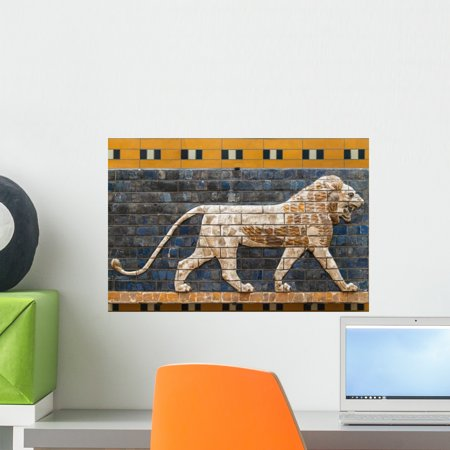 Mosaic Lion Ishtar Gate Wall Mural By Wallmonkeys Peel And Stick Graphic  18 In W X 12 In H  Wm334673