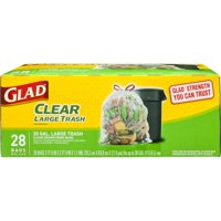 Glad Clear Recycling Large Trash Bags, 30 Gallon, 28 Bags