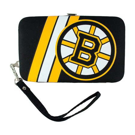 Boston Bruins Distressed Wallet Wristlet Case (3.5