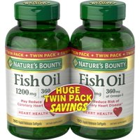 Nature's Bounty--Fish Oil--Supports Cardiovascular Health*--1200mg Rapid Release Softgels, 180 Count (Pack of 2)