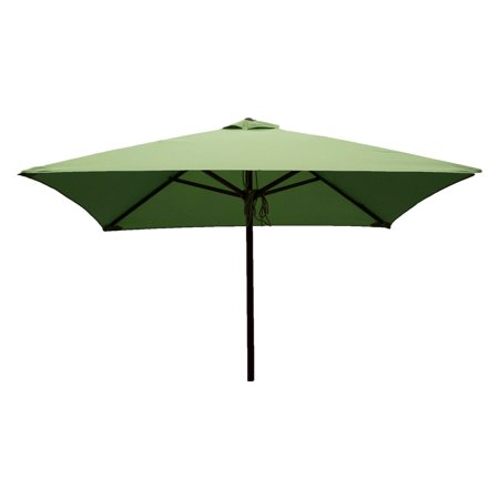 DestinationGear Classic Wood 6.5' Square Patio Umbrella, Lime ()