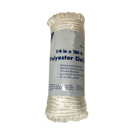 Clothesline Replacement - 1/4in x 100ft Polyester Clothesline