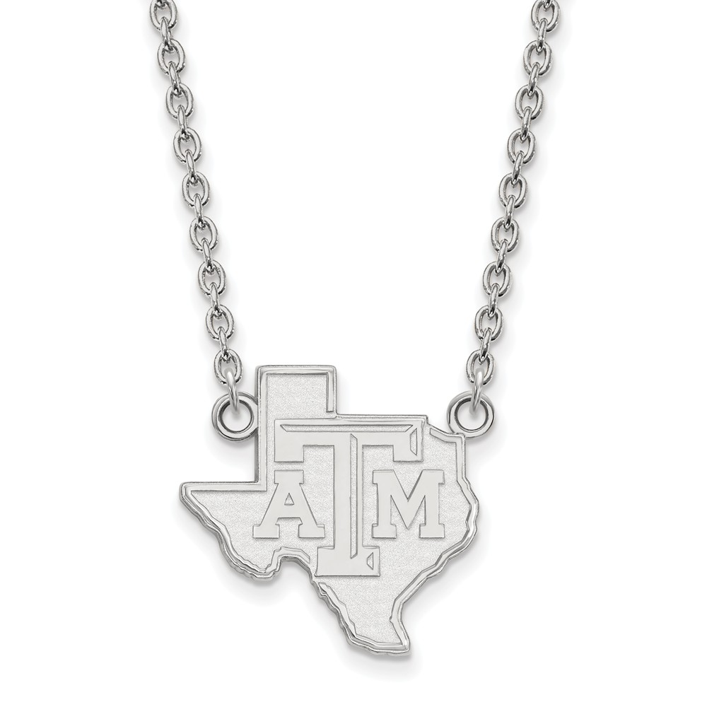 Sterling Silver LogoArt Texas A&M University Large Pendant w/Necklace - image 1 of 1