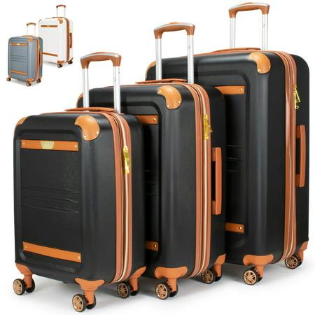 19V69 Italia Vintage 3 Piece Expandable Hard Spinner Luggage